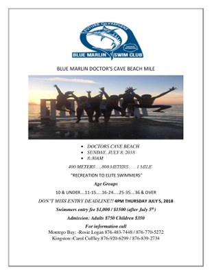 Blue Marlin Doctor's Cave Beach Mile